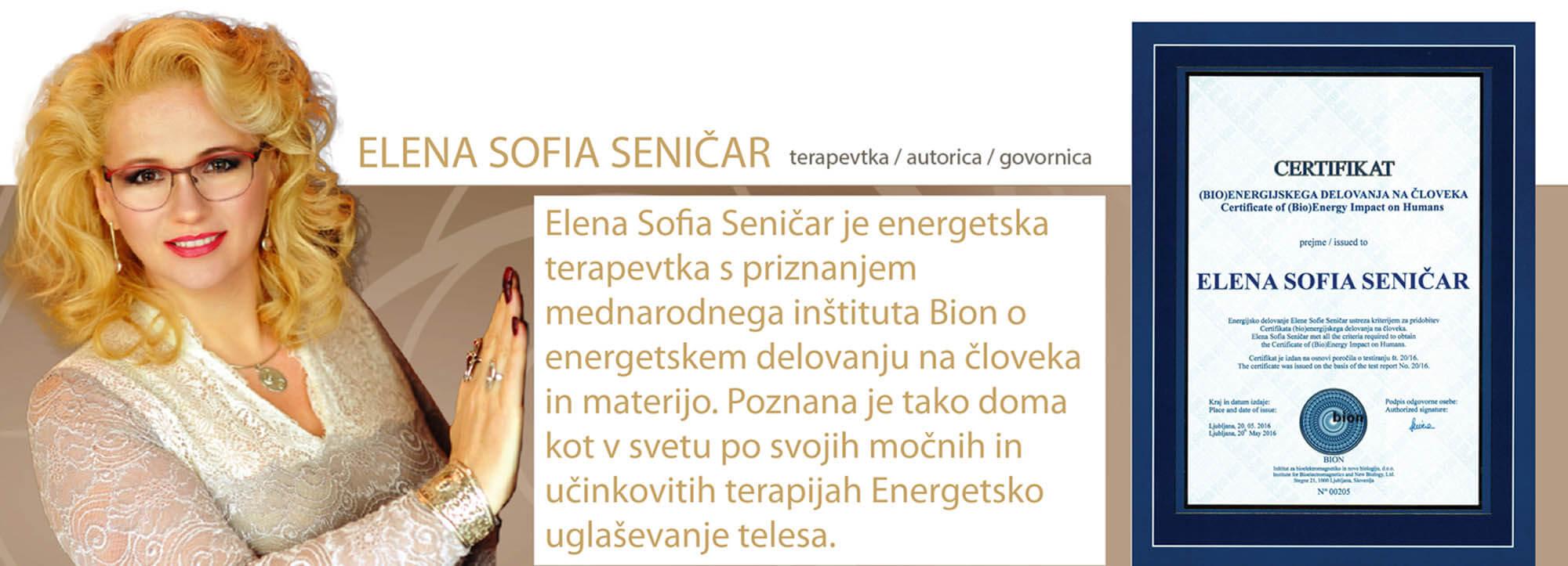 Elena Sofia Seničar - ozadje