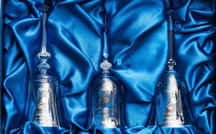 kristalni zvončki za ljubezen srečo in zdravje